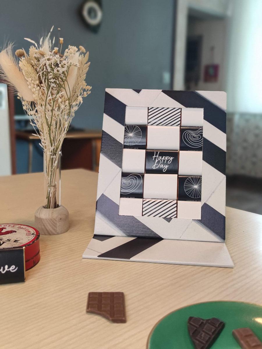 coffret chocolat original les moments suspendus, cadeau d'entreprise original